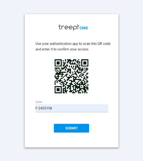 2FA Initial Setup Process with QR Code