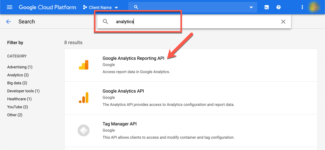 Search Analytics APIs